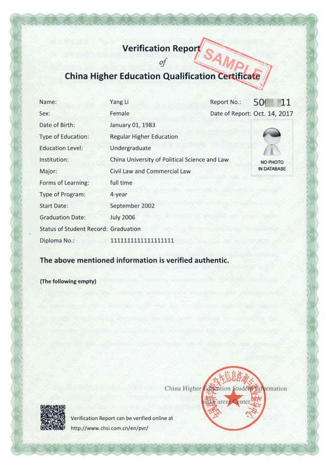 verification report chesicc