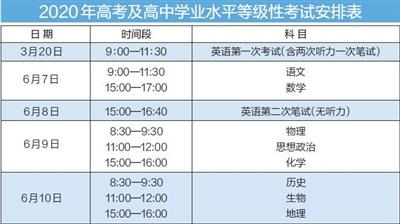 """天津:明年""""新高考""""考试时间定了"""